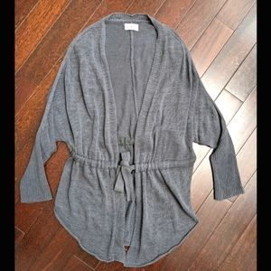 Lou & Grey Knit Tie Waist Dolman Summer Sweater